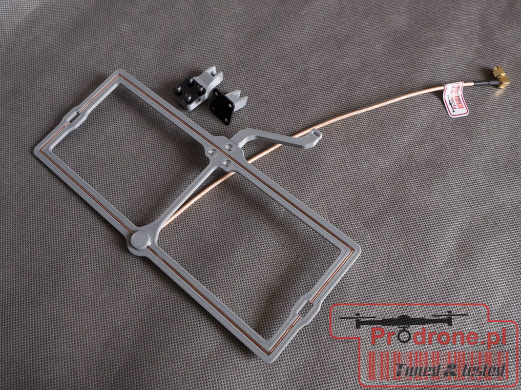 High Gain LRS UHF 435Mhz Moxon antenna with Quick release system